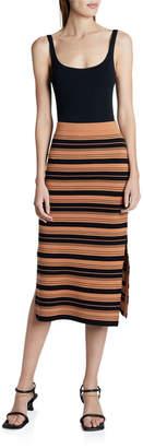 Proenza Schouler White Label Compact Striped Midi Skirt