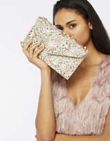 Accessorize Alicia Flower Envelope Clutch Bag