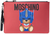 Moschino large Saffiano bear pouch - women - Leather - One Size