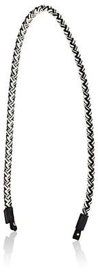 Métier London Women's Braided Shoulder Strap - Wht.&blk.