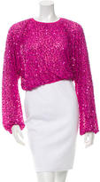 Dolce & Gabbana Sequined Silk Top