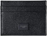 Dolce & Gabbana Dauphine Leather Credit Card Holder