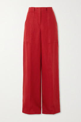Loro Piana Linen Wide-leg Pants - Red