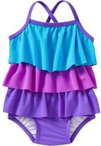 Old Navy Ruffle-Tiered Color-Block Swimsuits for Baby