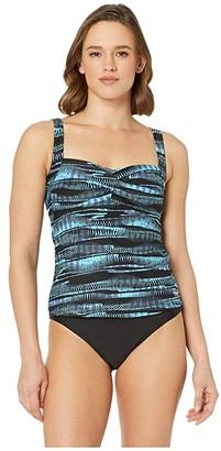 TYR Twisted Bra Tankini Top (Bryon Bay) Women's Swimwear