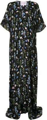 Carolina Herrera Floral-Print Long Dress