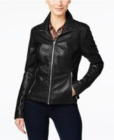 Kenneth Cole Faux-Leather Moto Jacket
