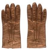 Prada Metallic Leather Gloves