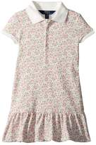 Polo Ralph Lauren Floral Stretch Mesh Polo Dress Girl's Dress