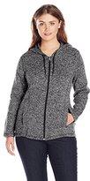 Dickies Women's Plus-Size Sweater Hooded Jacket - Plus