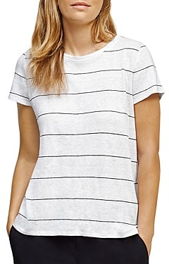 Eileen Fisher Striped Linen Tee