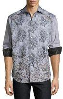 Robert Graham Limited Edition Theories Floral-Print Sport Shirt, Gray