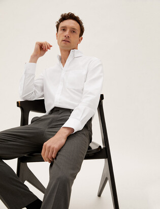 Marks and Spencer Tailored Fit Pure Cotton Oxford Shirt
