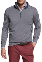 Peter Millar Crown Comfort Heather Interlock Quarter-Zip Pullover