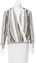 Torn By Ronny Kobo Striped Print Long Sleeve Top