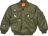 Studio Job XO Barneys New York Studio Job Patch-Appliquéd Bomber Jacket-GREEN