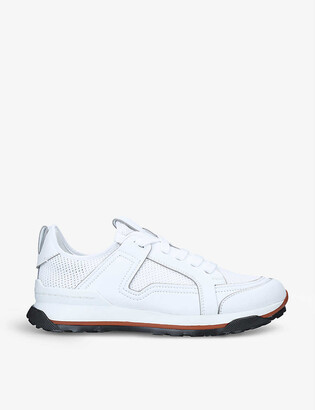 Ermenegildo Zegna Siracusa leather and mesh low-top trainers