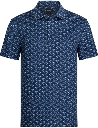 Bugatchi OoohCotton(R) Floral Short Sleeve Polo