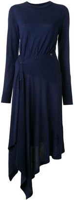 Sies Marjan Charlotte asymmetric knit dress