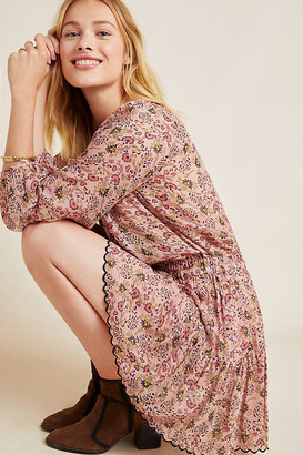 Velvet by Graham & Spencer Aubrey Floral Tunic Dress By in Pink Size S