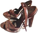 Salvatore Ferragamo Green Velvet Heels