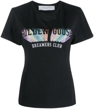 Golden Goose Golden glitter logo print T-shirt
