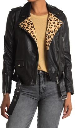 Scotch & Soda Leather Moto Biker Jacket