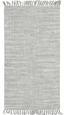 French Connection Yoshi Hand-Knotted Cotton Light Gray Area Rug Rug Size: Rectangle 4' x 6'