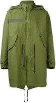 Closed hooded midi coat - men - Cotton - M