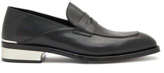 Alexander McQueen Heel-cap Leather Penny Loafers - Black