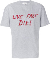 McQ by Alexander McQueen Live Fast Die print T-shirt - men - Cotton - S