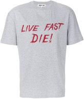 McQ Live Fast Die print T-shirt