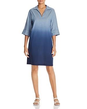 Lafayette 148 New York Nicole Dip-Dyed Dress