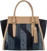 Brahmin Priscilla Denim Velazquez Medium Satchel