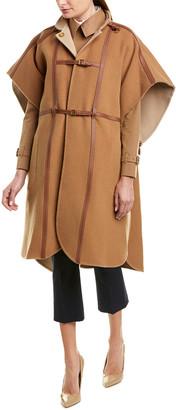 Burberry Harness Wool-Blend Cape