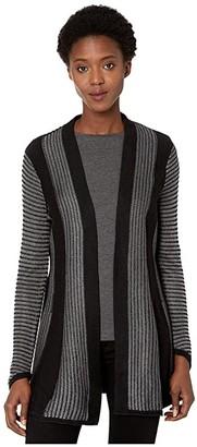 Nic+Zoe Warm Up Cardigan (Black Onyx) Women's Sweater