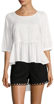 French Connection Summer Slub High-low Top