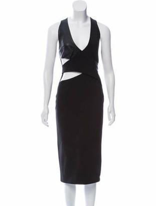 Dion Lee Midi Cocktail Dress Black