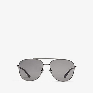 Gucci GG0410SK (Ruthenium/Grey/Dark Havana) Fashion Sunglasses