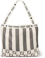 Fendi - Convertible Logo-Jacquard Cotton-Blend Terry Tote Bag
