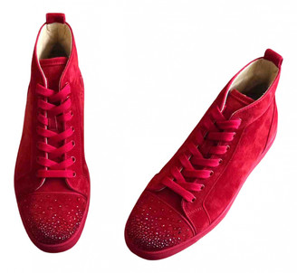 Christian Louboutin Louis Red Suede Trainers