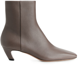 Arket Square-Toe Ankle Boots