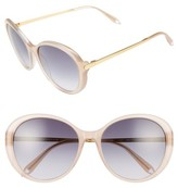 Victoria Beckham Women's Fine Oval 59Mm Sunglasses - Amber Tortoise/ Grey