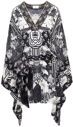 Camilla Wild Moonchild Belted Printed Silk Crepe De Chine Kaftan
