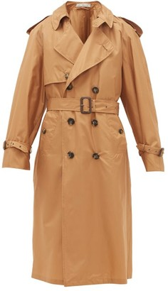 Umit Benan B+ - Double-breasted Silk Trench Coat - Womens - Camel