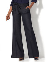 New York & Co. Tie-Waist Wide-Leg Pant - Hidden Blue