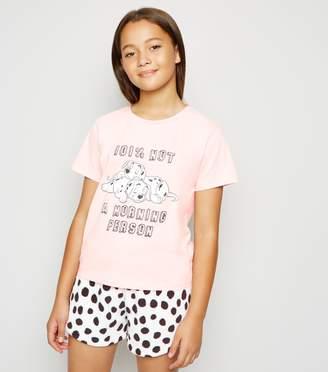 New Look Girls Disney Dalmatian Slogan Pyjama Set