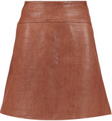 Temperley London Majorelle croc-effect leather skirt