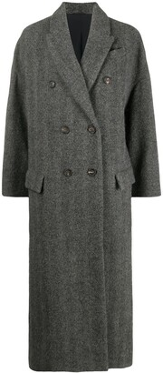 Brunello Cucinelli Double-Breasted Mid-Length Coat