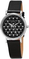 Stuhrling Original Women's 799.01 Symphony Analog Display Swiss Quartz Black Watch